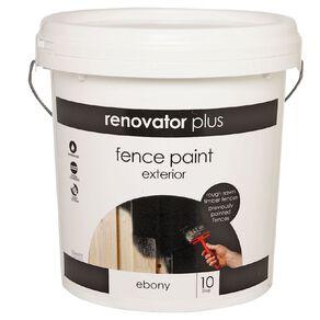 Renovator Plus Fence Paint Ebony 10L