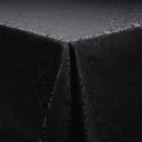 Living & Co Table Cloth Jackie Black 135cm x 230cm