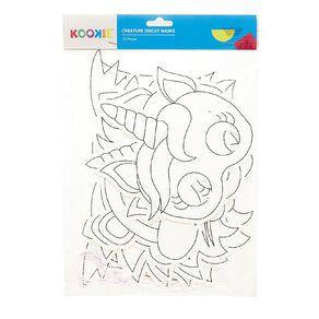 Kookie Educational Diecut Masks White 10 Pack