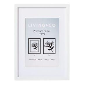 Living & Co Premium Poster Frame A3/A4 White