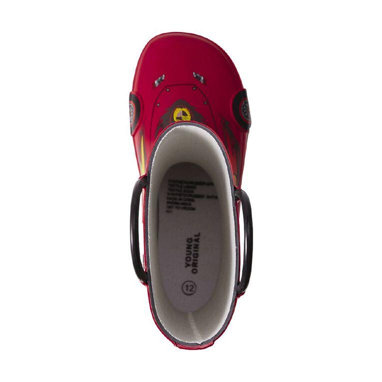 Young Original Kids' Vroom Gumboots, Red, hi-res