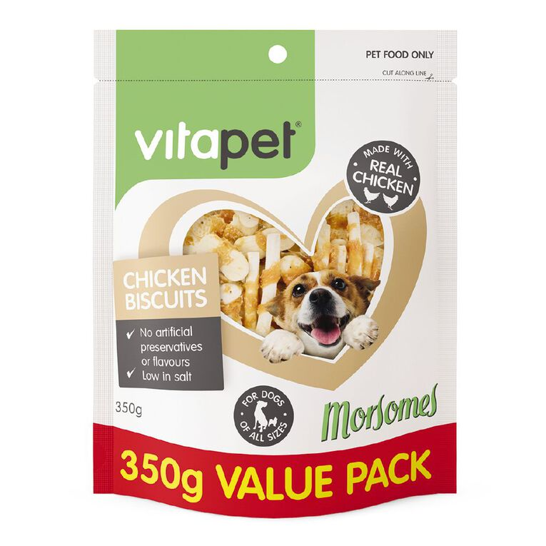 Vitapet Morsomes Chicken Biscuits 350g, , hi-res