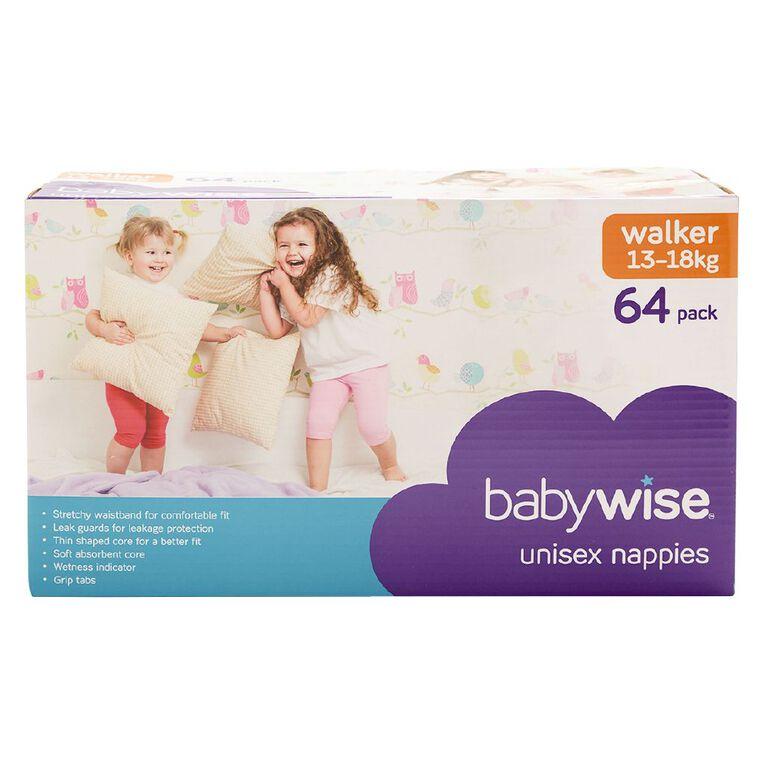 Babywise Jumbo Nappies Walker 64 Pack, , hi-res