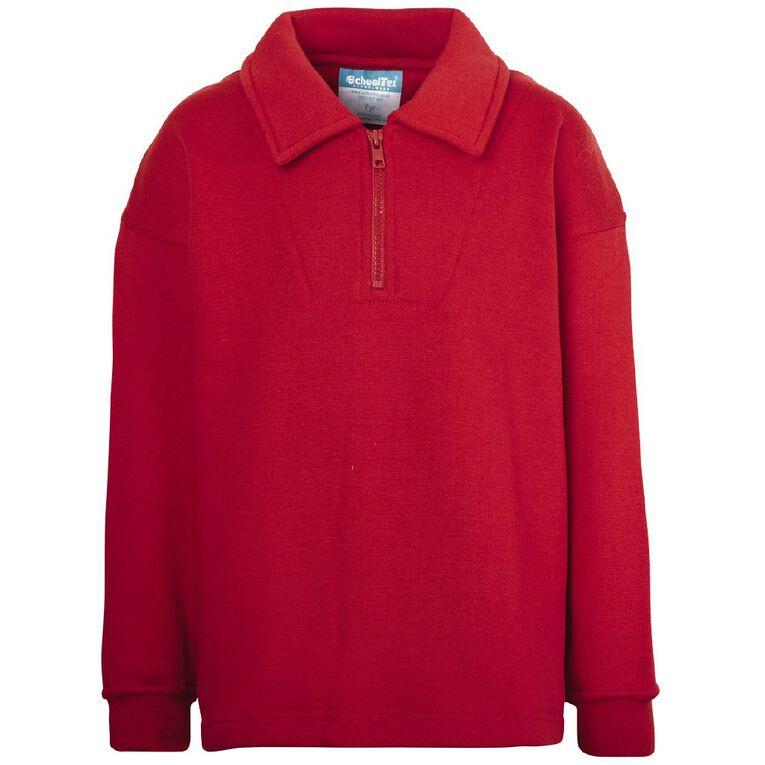 Schooltex Kids' Zip Fleece Tunic, Red, hi-res