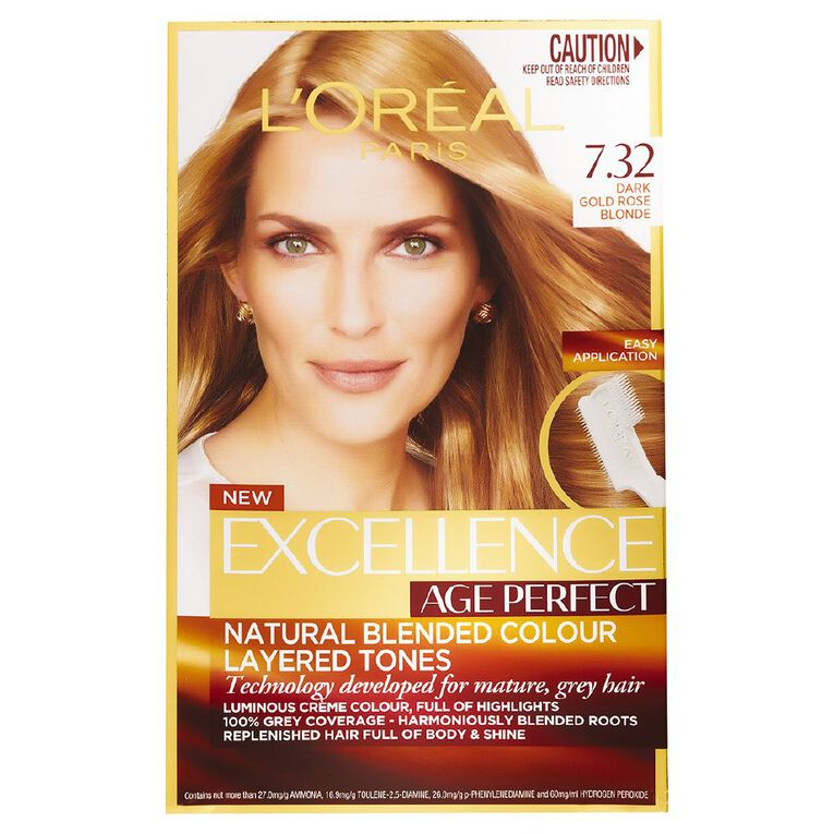 L'Oreal Paris Excellence Age Perfect Dark Gold Rose Blonde 7.32, , hi-res