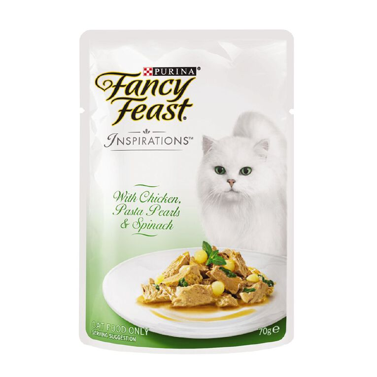 Fancy Feast Inspirations Chicken Pasta Spinach 70g, , hi-res