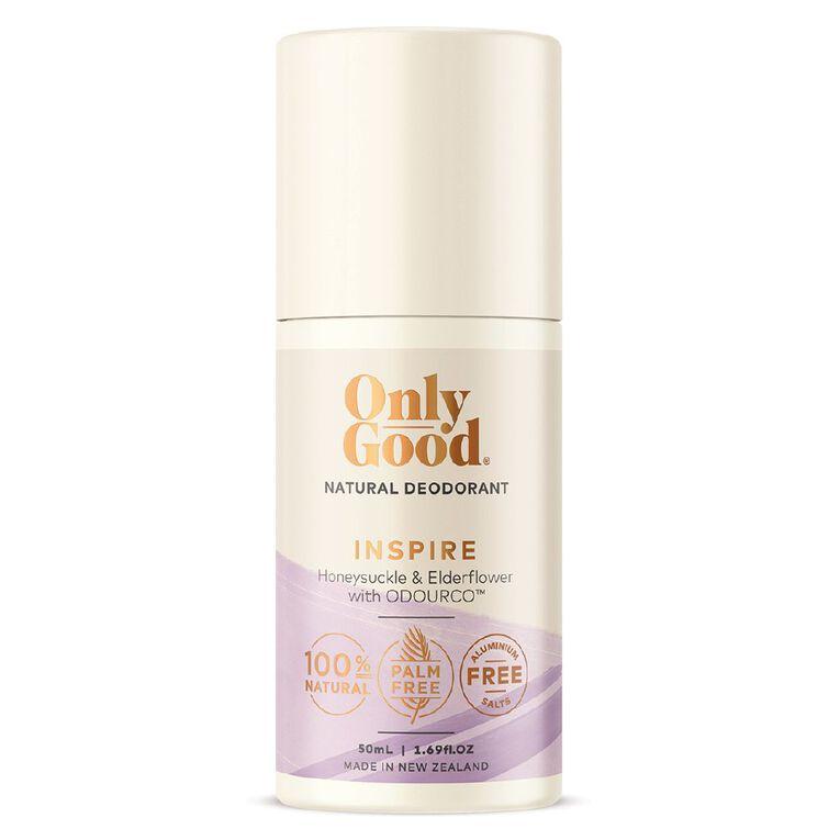 Only Good Roll On Deodorant Inspire Honeysuckle & Elderflower 50ml, , hi-res