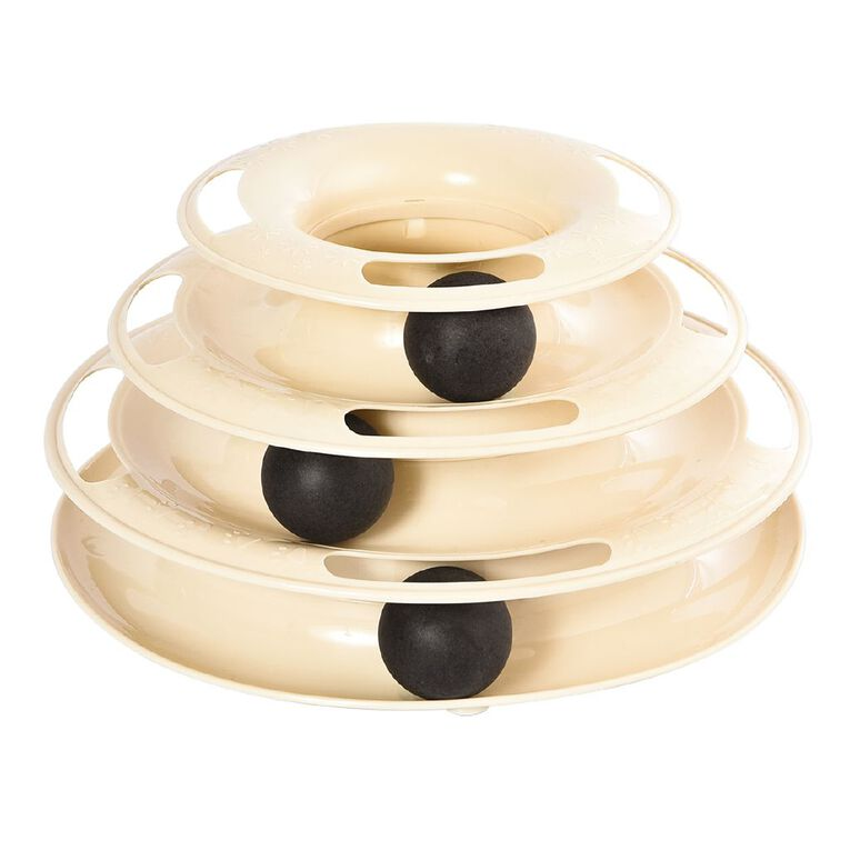 Petzone Cat Toy Tower With 3 Balls, , hi-res