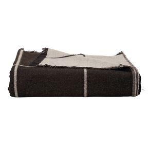 Living & Co Classic Grid Throw Black 127cm x 152cm