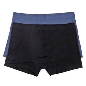 H&H Men's Plain Trunks 2 Pack