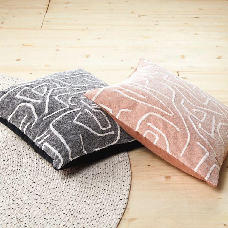 Living & Co Atelier Cushion Pink 50cm x 50cm, Pink, hi-res