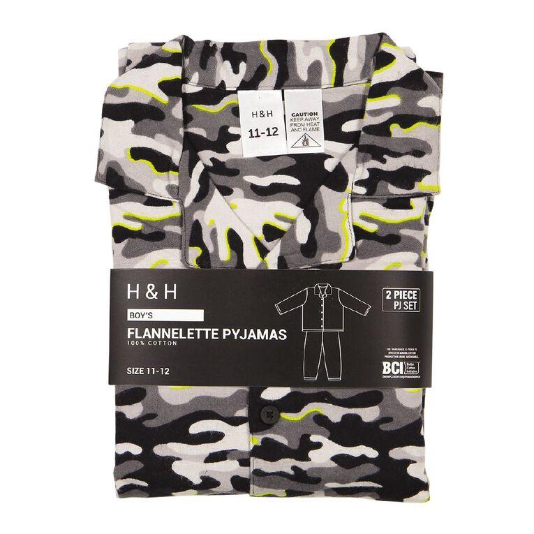 H&H Kids' Flannelette Pyjamas, Grey, hi-res