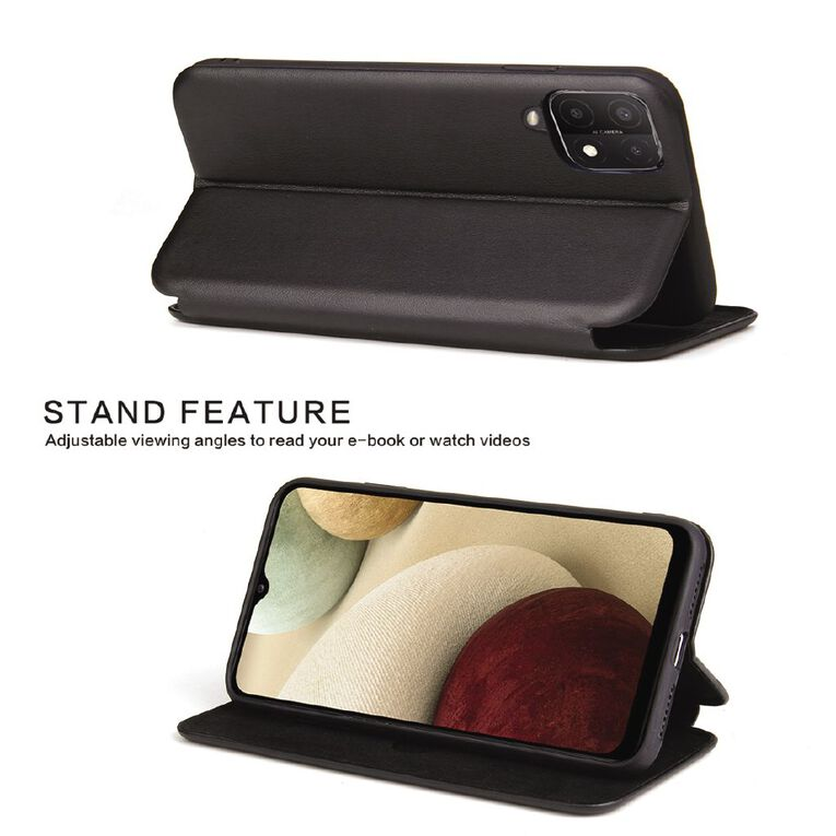 INTOUCH Samsung A12 Milano Wallet Case Black, , hi-res
