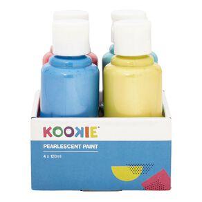 Kookie Acrylic Paint Pearlescent 120ml 4 Pack
