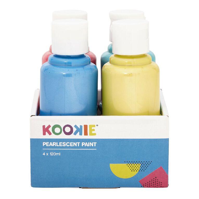 Kookie Acrylic Paint Pearlescent 120ml 4 Pack, , hi-res