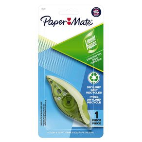 Paper Mate Liquid Paper Dryline Grip Recycled Correction Tape - 1 Pack