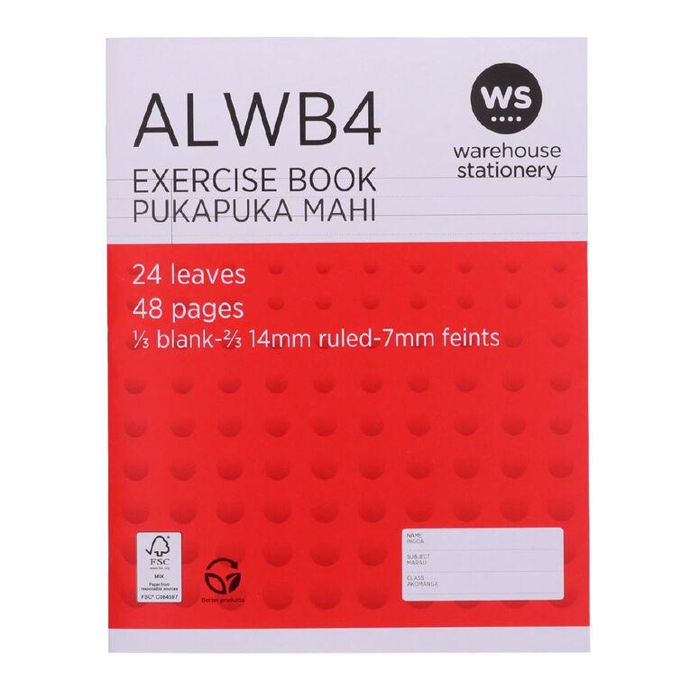 WS Exercise Book ALWB4 Ruled 24 Leaf, , hi-res
