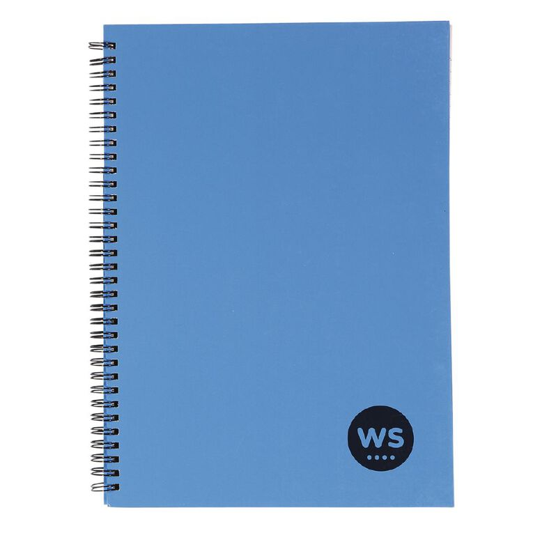 WS Notebook Wiro 200 Page Hard Back Blue A4, , hi-res