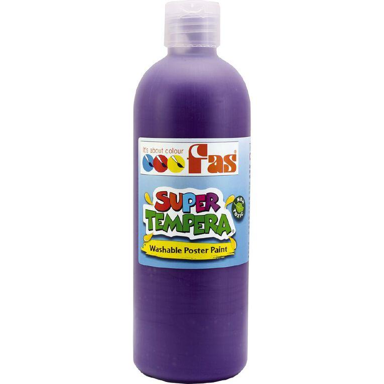 FAS Paint Super Tempera 500ml Violet Purple 500ml, , hi-res
