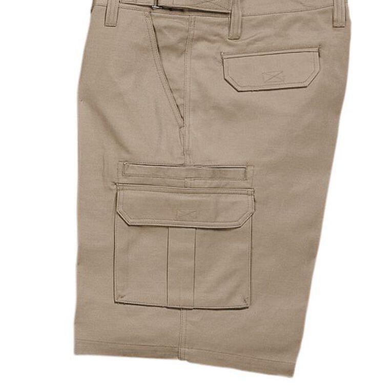 Bisley Workwear Cargo Shorts, Khaki, hi-res