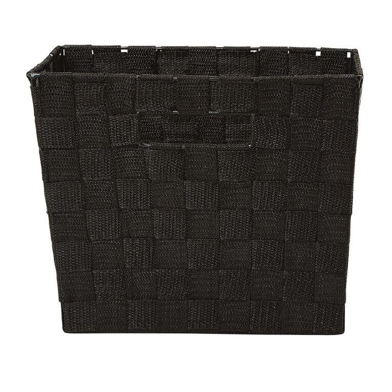 Living & Co Woven Basket Black Medium, , hi-res
