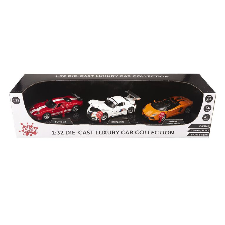 Die-cast Pull Back Car With Light And Sound 3 Set Assorted, , hi-res
