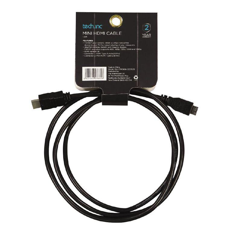 Tech.Inc Mini HDMI Cable 1.5M, , hi-res