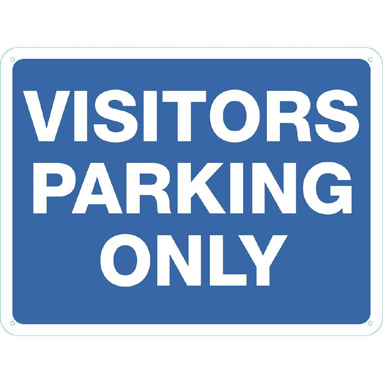 WS Visitor Parking Only Sign Large 450mm x 600mm, , hi-res