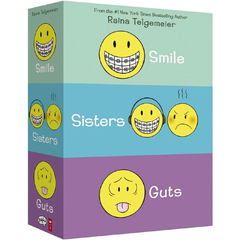 Smile Sisters & Guts: The Box Set by Raina Telgemeier, , hi-res image number null