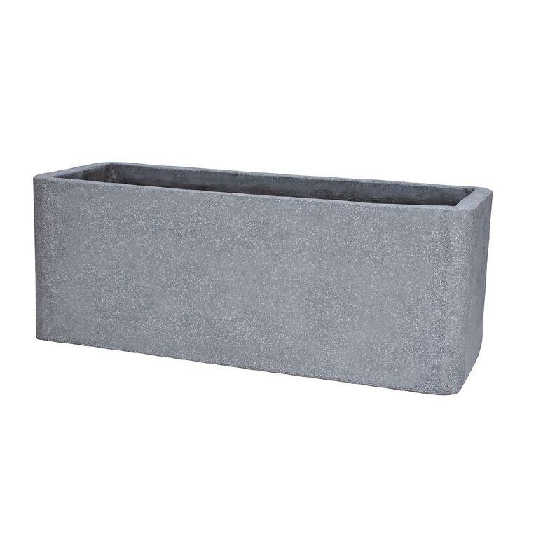 Kiwi Garden Lightweight Cement Trough Grey 80cm, , hi-res