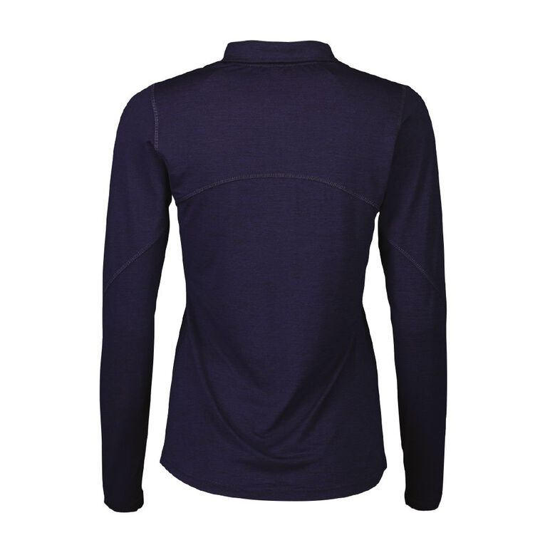 Active Intent Women's Long Sleeve Half Zip Light Layer Sweatshirt, Blue Dark, hi-res