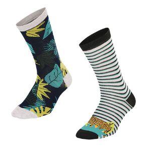 H&H Men's Crew Socks 2 Pack