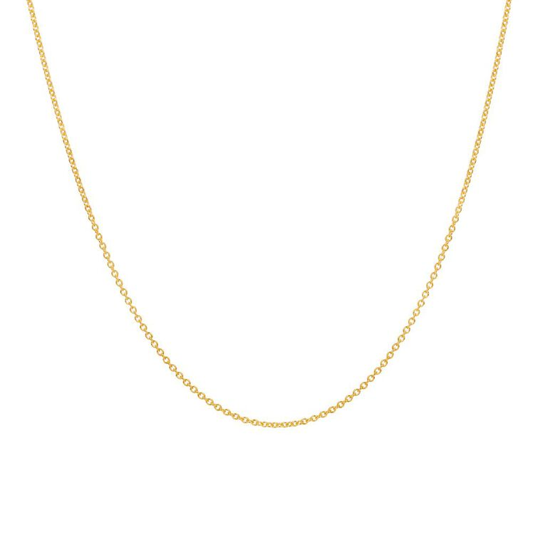 9ct Gold Cable Chain 45cm, , hi-res