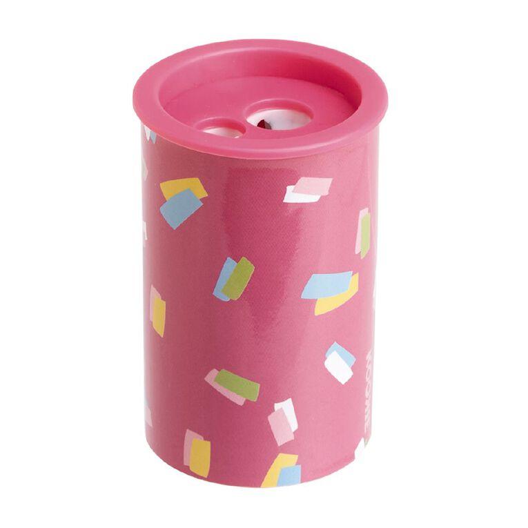 Kookie Bright Sharpener Round Pink Light, , hi-res