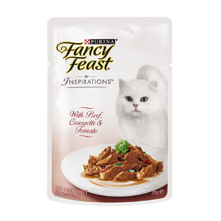 Fancy Feast Inspirations Beef Courgette Tomato 70g, , hi-res