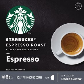 Starbucks Dolce Gusto Espresso Roast 12 Capsules 66G