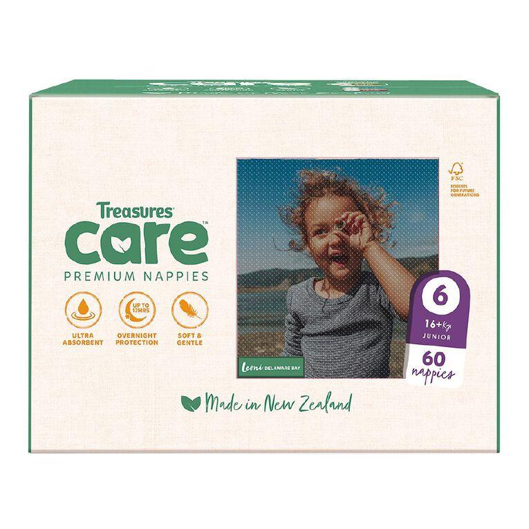 Treasures Care Nappy Junior Size 6 - Jumbo 60pk, , hi-res