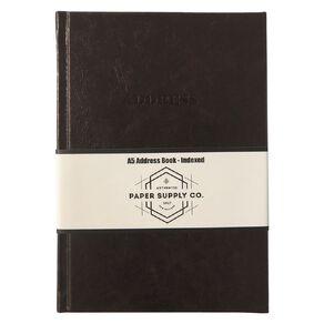 Paper Co Vintage Address Book Brown A5