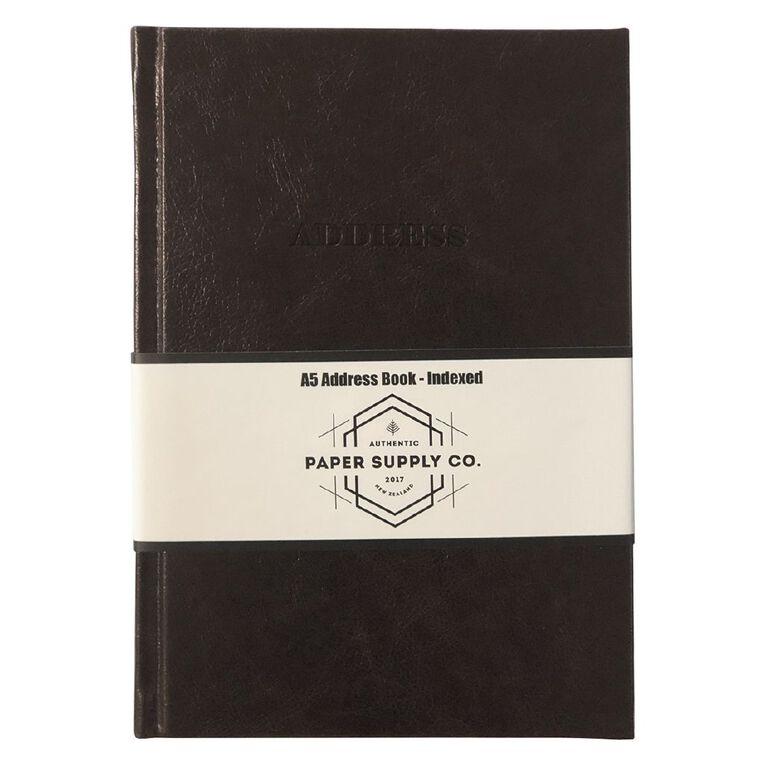 Paper Co Vintage Address Book Brown A5, , hi-res
