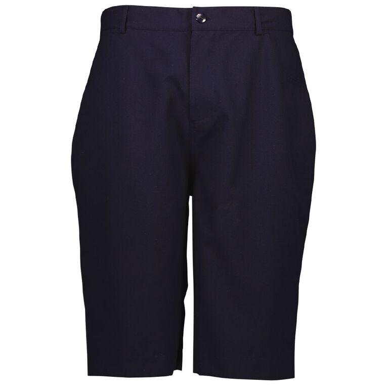 Schooltex Boys' Drill Back Yoke Shorts, Navy, hi-res