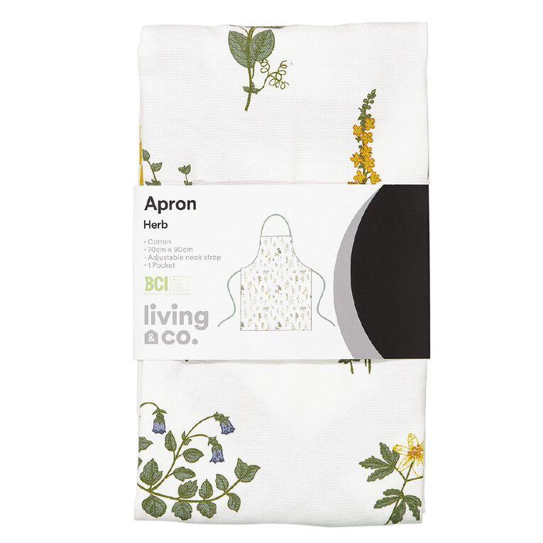 Living & Co Herb Apron 50cm x 70cm, , hi-res