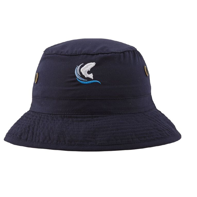 Schooltex Rakaia School Bucket Hat with Embroidery, Navy, hi-res
