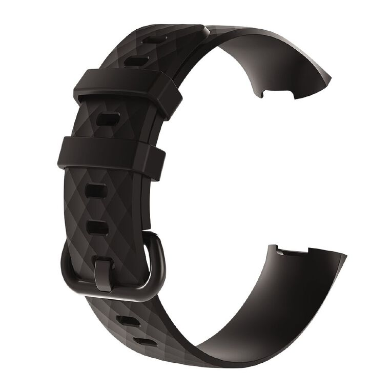Swifty Black Replacement Strap For Fitbit Charge 3 & 4 Size Small, , hi-res