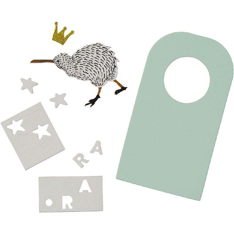 Kookie Make Your Own Door Hanger NZ Theme, , hi-res