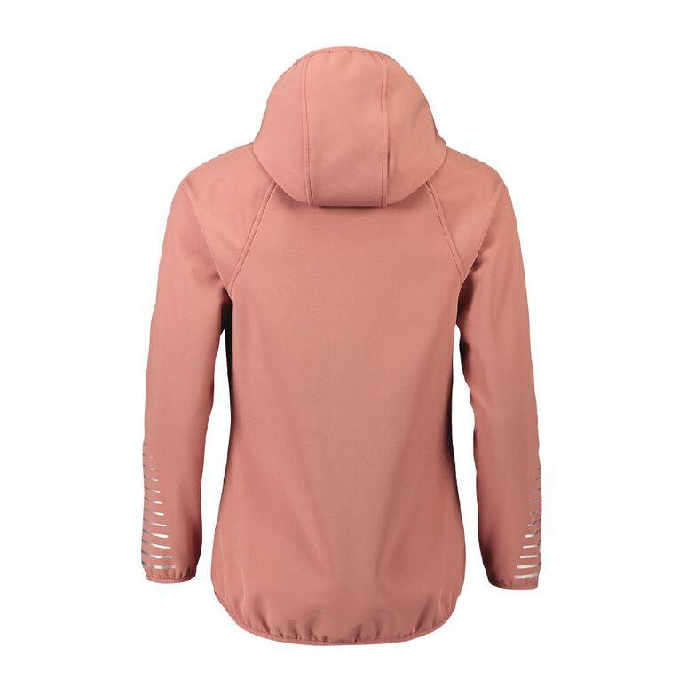 Active Intent Women's Bonded Drop Hem Jacket, Pink Mid, hi-res