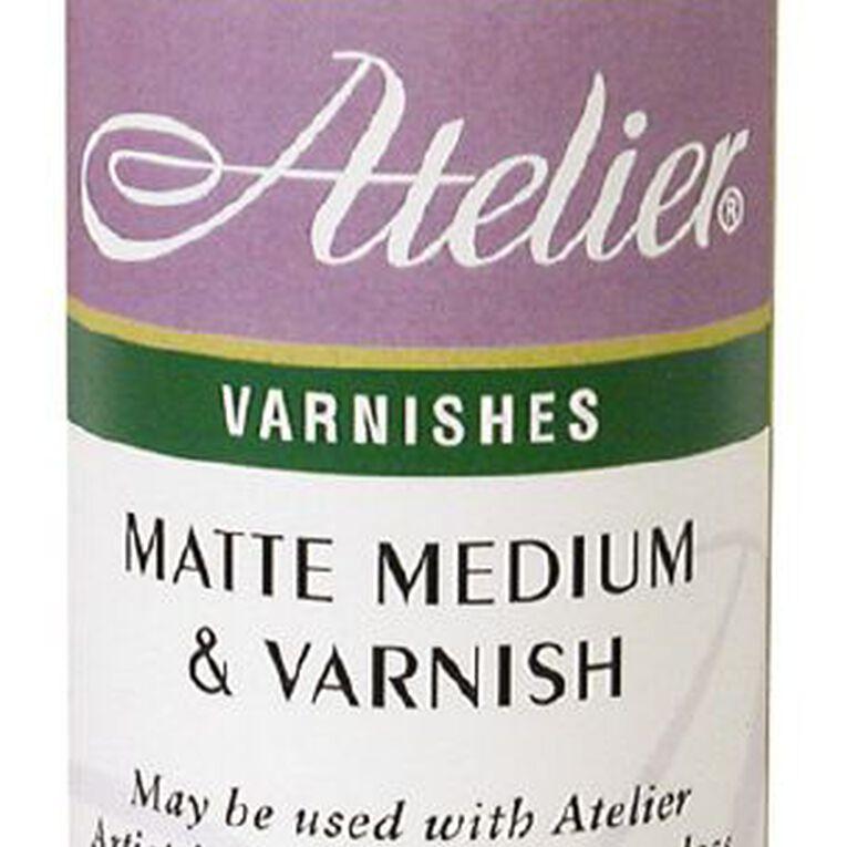 Atelier Matte Medium & Varnish 250ml White, , hi-res