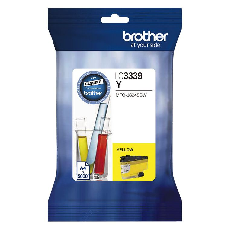 Brother Ink LC3339XLY Yellow (5000 Pages), , hi-res