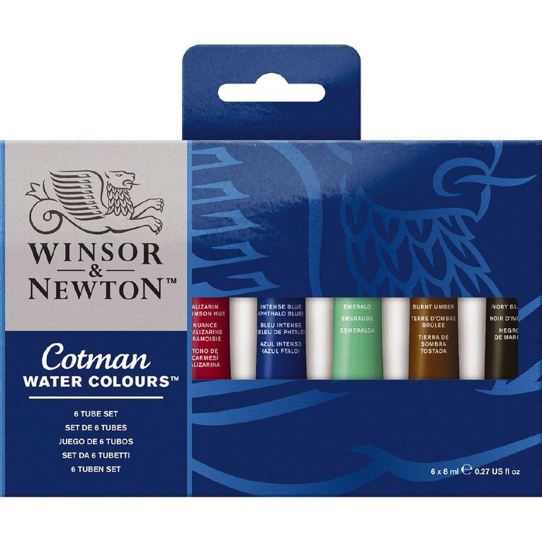 Winsor & Newton Cotman Water Colour Set of 6 8ml Tubes Multi-Coloured, , hi-res