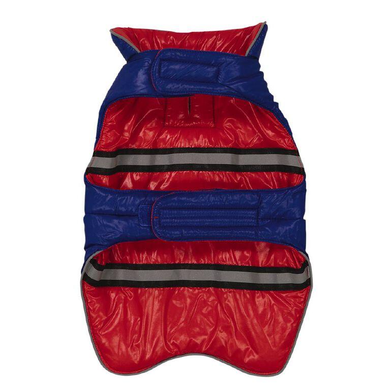 Petzone Reversible Puffer Jacket Red/Blue Medium, , hi-res