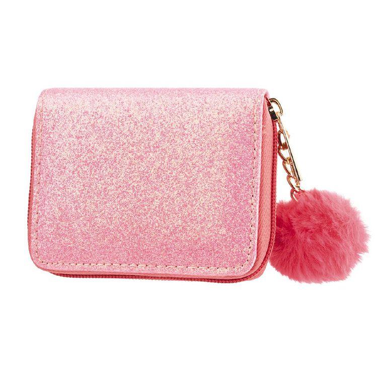 Kids Glitter Pom Pom Wall, Pink, hi-res